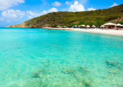 Curacao beautiful caribbean sea beach Porto Marie